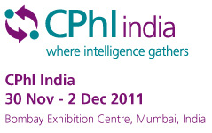CPhI India 2011 Mumbai Nov.30-Dec.02, 2011
